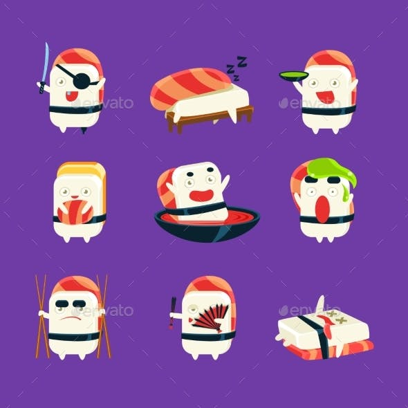 Sushi Character Japan Themed Activities