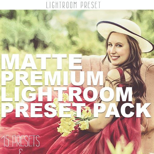 Matte Premium Lightroom Preset Pack