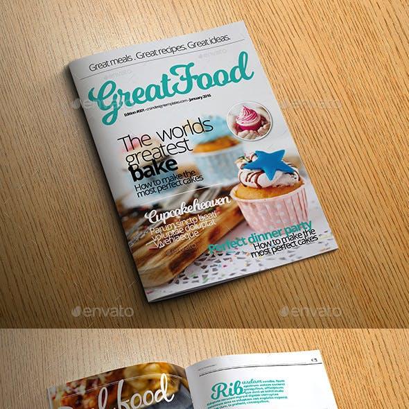 Food Magazine Templates