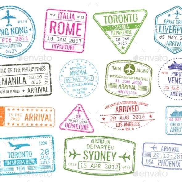 International Business Travel Visa Stamps