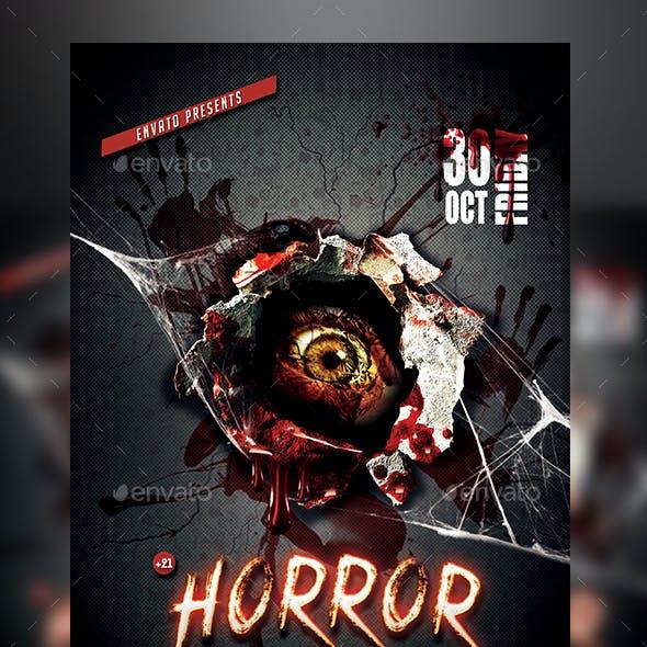 Horror Night Flyer Template
