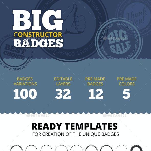 Big Constructor of Badges