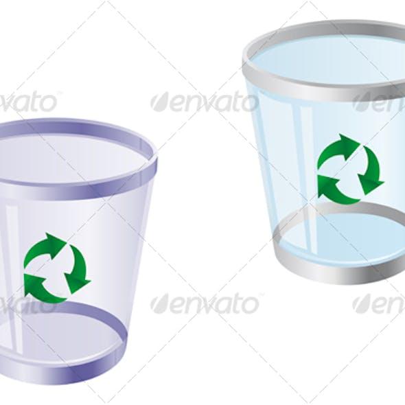 Glossy recycle bin