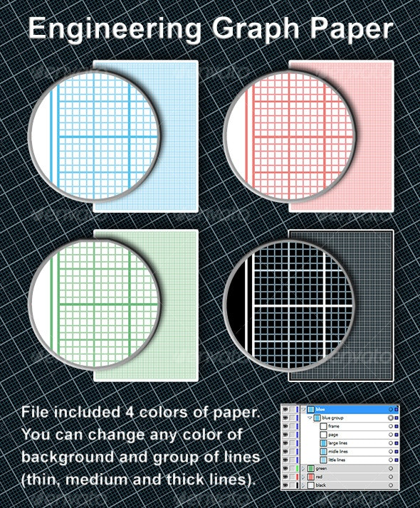 Engineering graph paper - Backgrounds Decorative