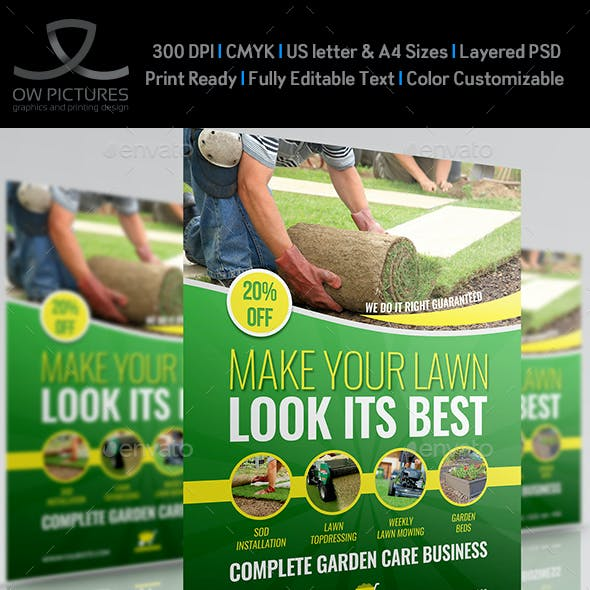 Garden Services Flyer Template Vol.4