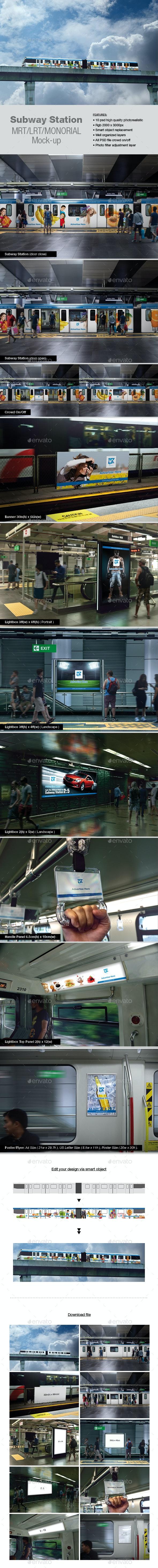 Subway Station Mock-up - Product Mock-Ups Graphics