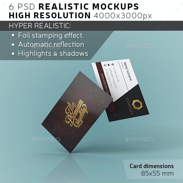 EURO Business Card Mockup
