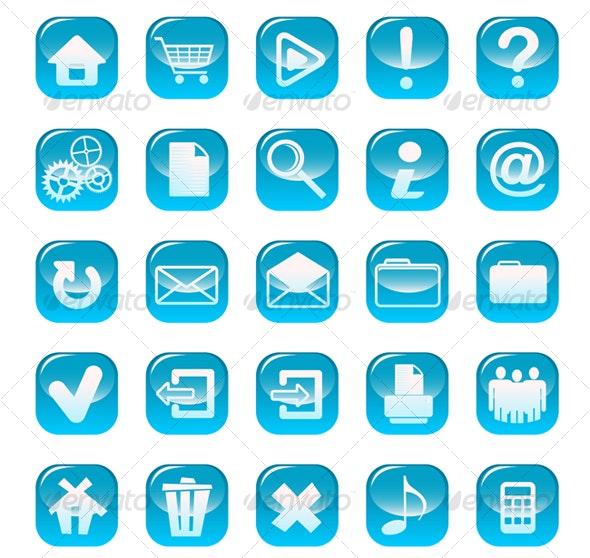 Set of web buttons - Web Technology