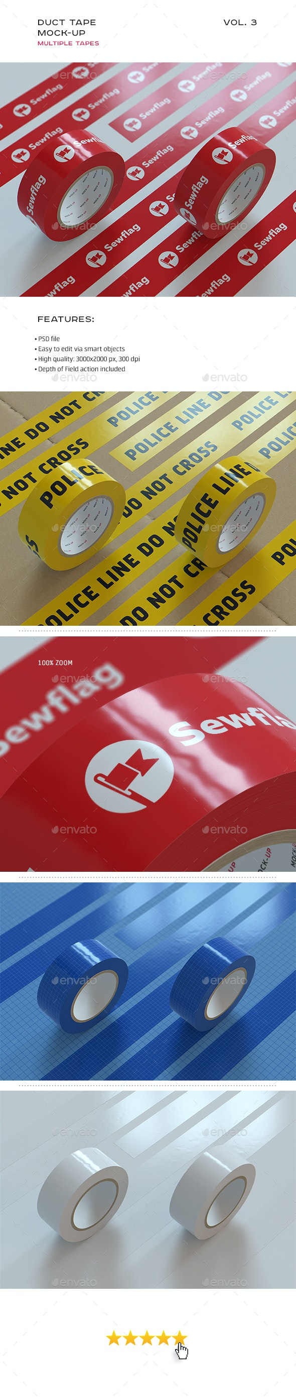 Duct Tape Mock-up vol. 3 - Stationery Print