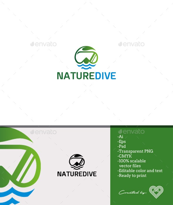 Nature Dive - Objects Logo Templates