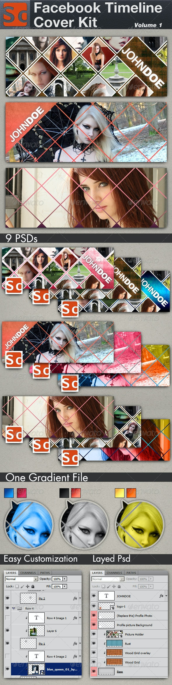 Facebook Timeline Cover Kit Volume 1 - Facebook Timeline Covers Social Media