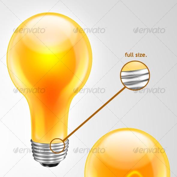 Ultra High Res. Glossy Light bulb icon/logo/design