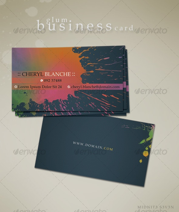Glum Business Card - Business Cards Print Templates