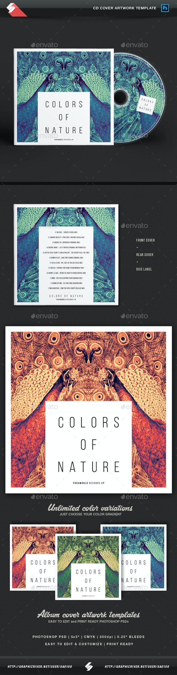 13 Best CD & DVD Artwork Templates  for May 2019