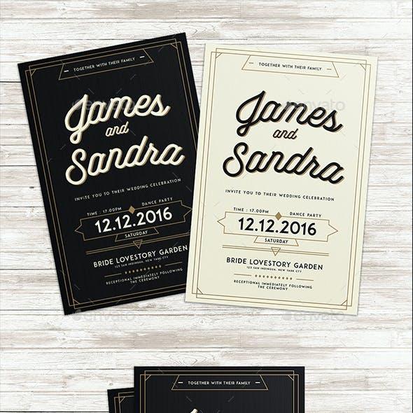 Authentic Wedding Invitation