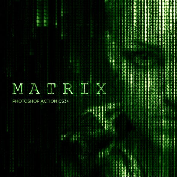 Matrix Code CS3+ Photoshop Action