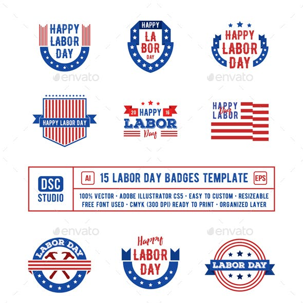 15 Labor Day Badge