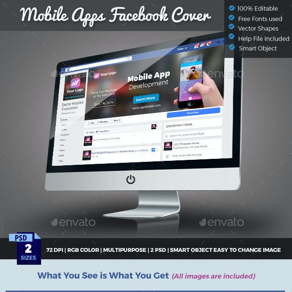 Mobile App Facebook Cover Timeline