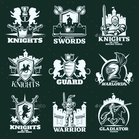 Knights Monochrome Emblems