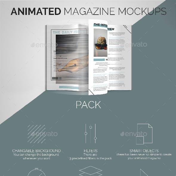 Animated Magazine Mockups