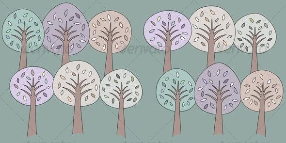 Storybook Trees Pattern - Patterns Decorative