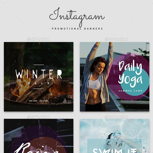 Instagram Promotional Banner Templates