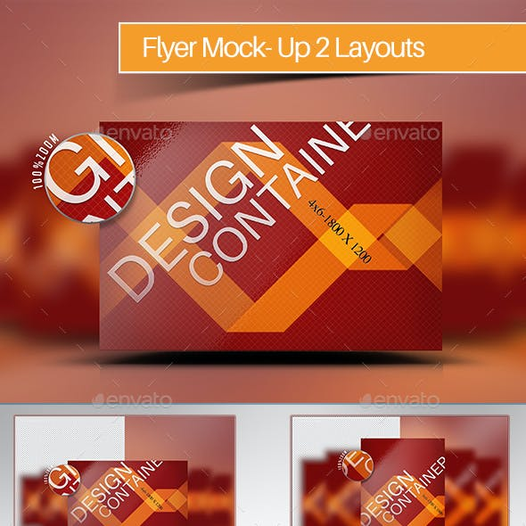 Realistic Vertical & Horizontal Flyer Mockup