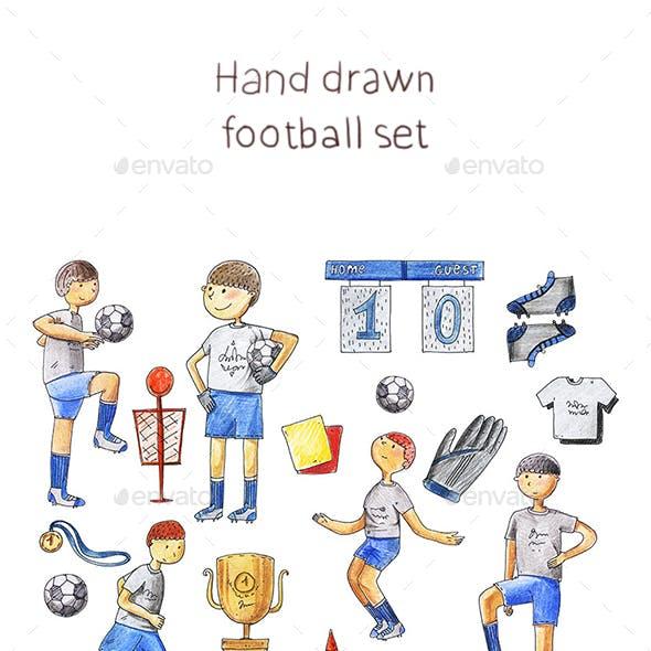 Football Hand Drawn Set