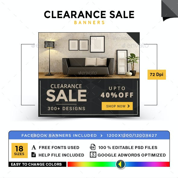Clearance Sale Banners