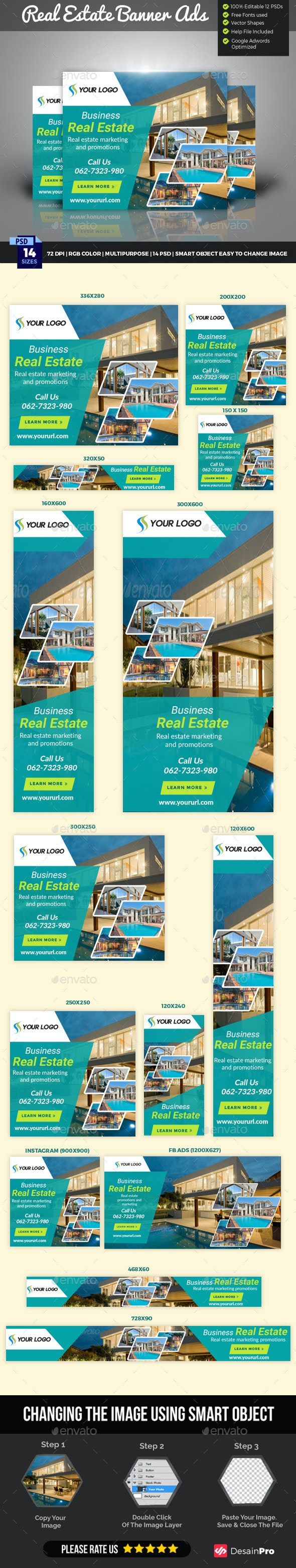 Real Estate Banner and Social Media  - Banners & Ads Web Elements