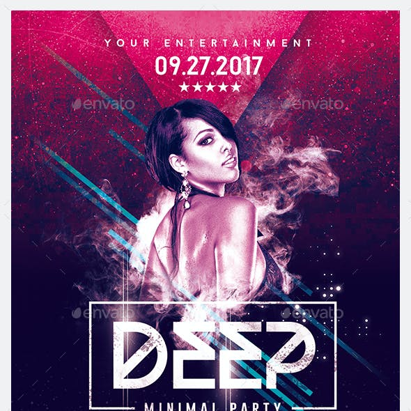 Deep Club Party | Minimal Flyer Template