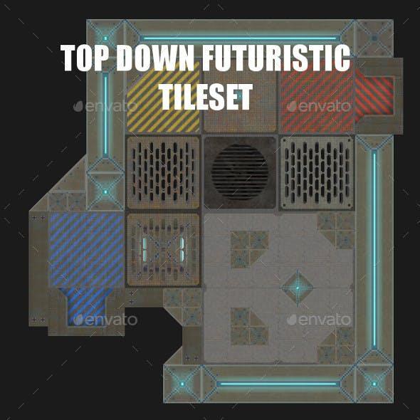 Metal Arena - Futuristic Top Down Tileset