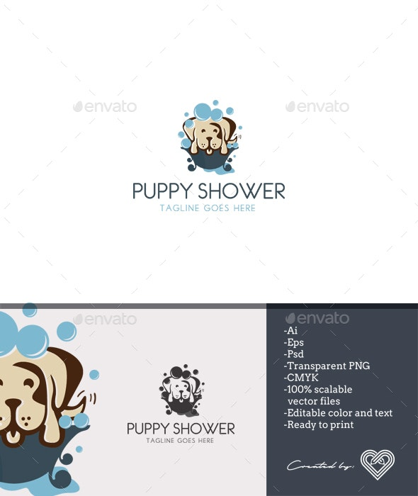 Puppy Shower - Animals Logo Templates
