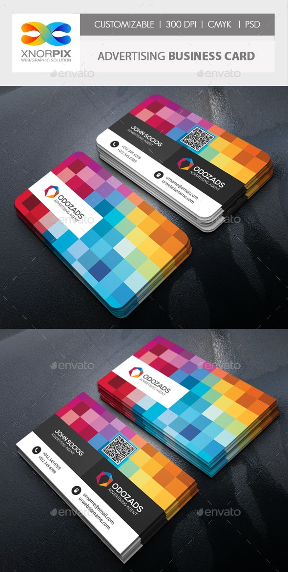 Advertising Agency Business Card - Creative Business Cards