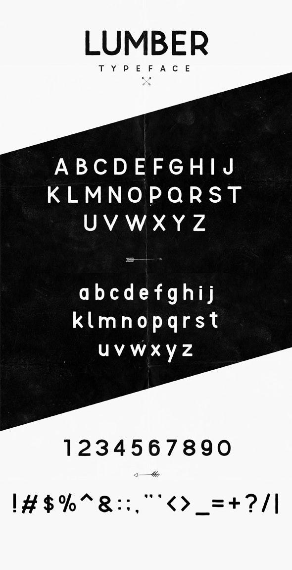 Lumber Typeface - Monospaced Sans-Serif