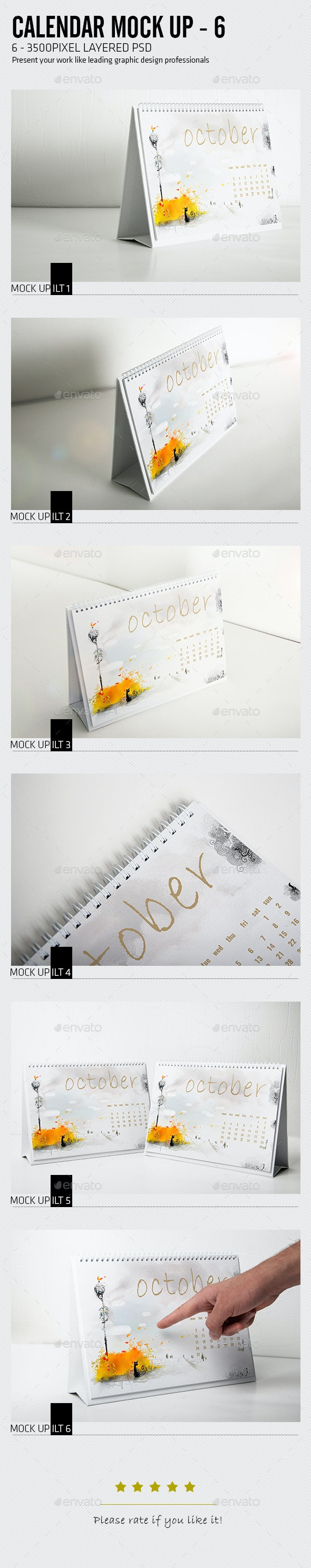 Calender Mock Up - Miscellaneous Print