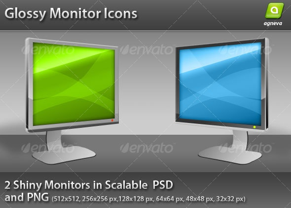 Glossy Monitor Icon