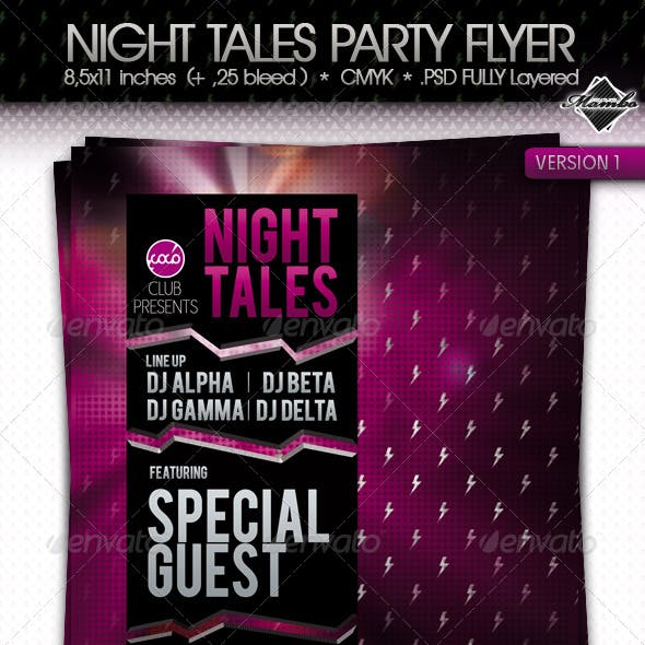 Night Tales - Party Flyer