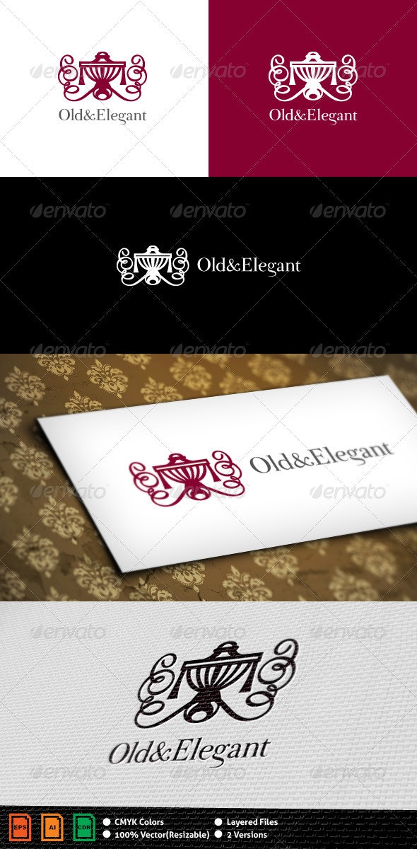 Old-Elegant Logo Template - Objects Logo Templates