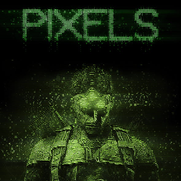 Pixels Photoshop Action