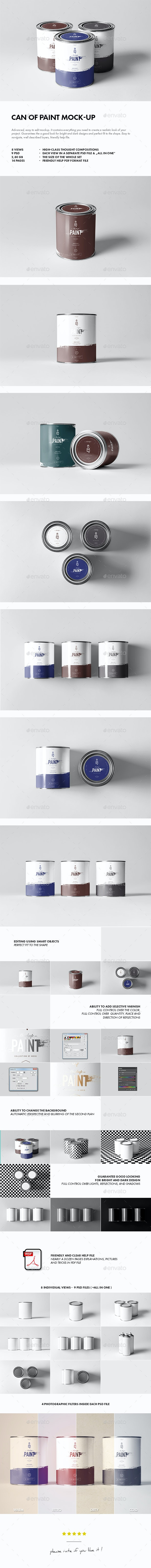 Can of Paint Mock-up - Miscellaneous Packaging