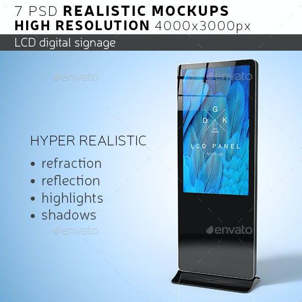 LCD Digital Signage Mockup