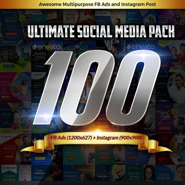Megapack Social Media Facebook Ads Instagram Templates