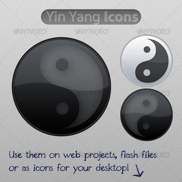 Glossy Yin Yang Icons