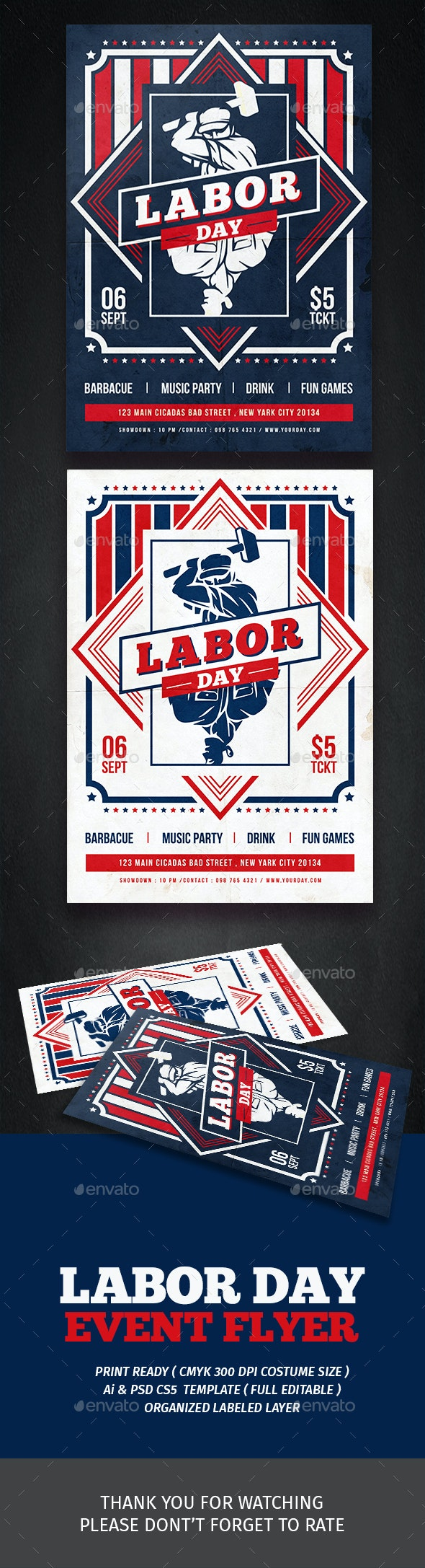 Labor Day Festival Flyer - Events Flyers