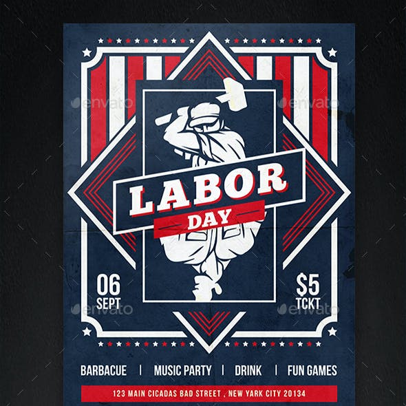 Labor Day Festival Flyer