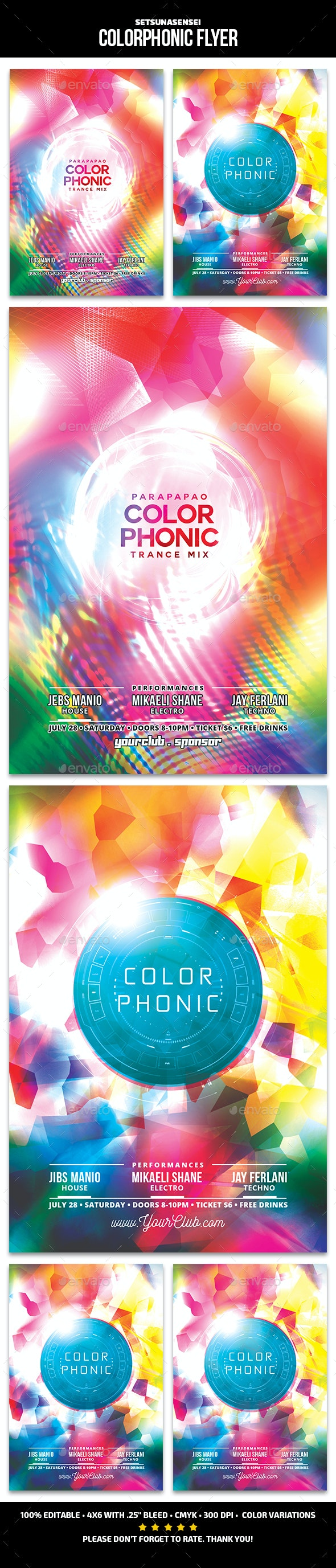 Colorphonic Flyer - Clubs & Parties Events