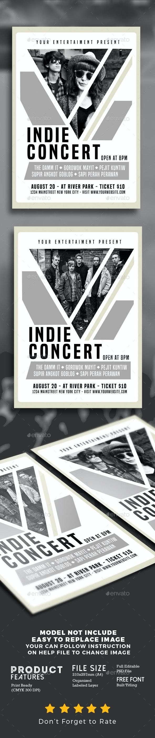 Indie Concert - Events Flyers