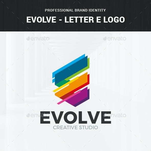 Evolve - Letter E Logo