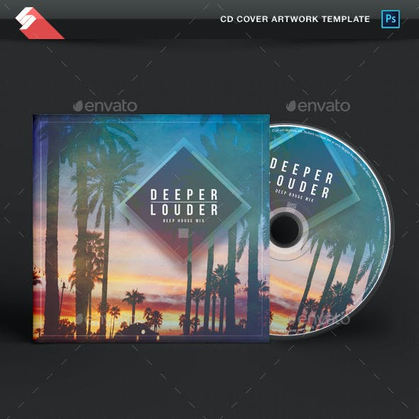 Deeper Louder - House Music CD Cover Template